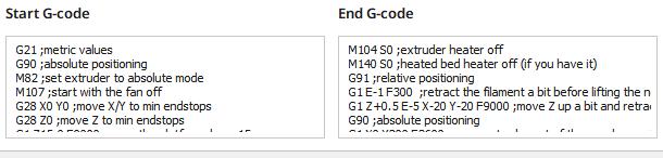 Cura start end gcode