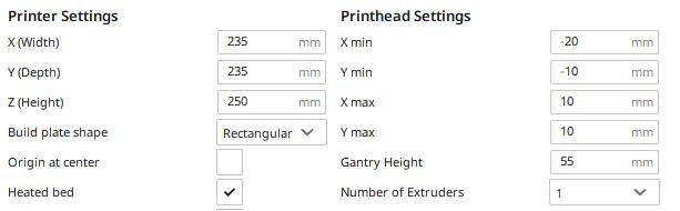 printer settings tevo