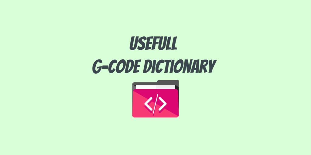 G-code dictionary